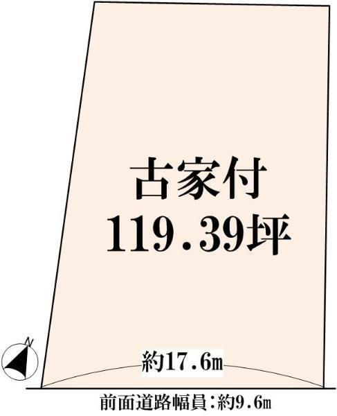 土地価格1480万円、土地面積394.7m<sup>2</sup>