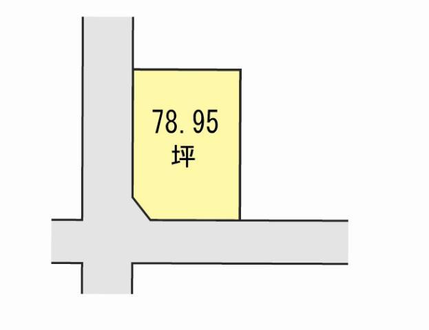 土地価格1421万1000円、土地面積261m<sup>2</sup>