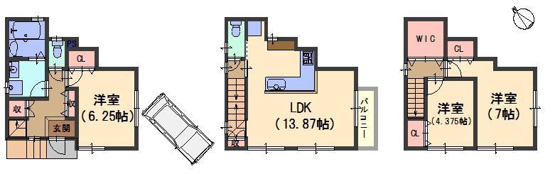 建物プラン例<BR>建物価格1450万円、建物面積81.40m<sup>2</sup>