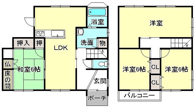 2180万円、4LDK、土地面積184.73m<sup>2</sup>、建物面積112.76m<sup>2</sup>