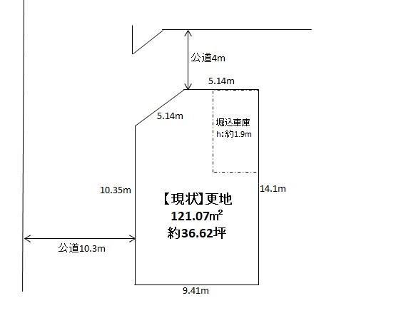 土地価格2480万円、土地面積121.07m<sup>2</sup>