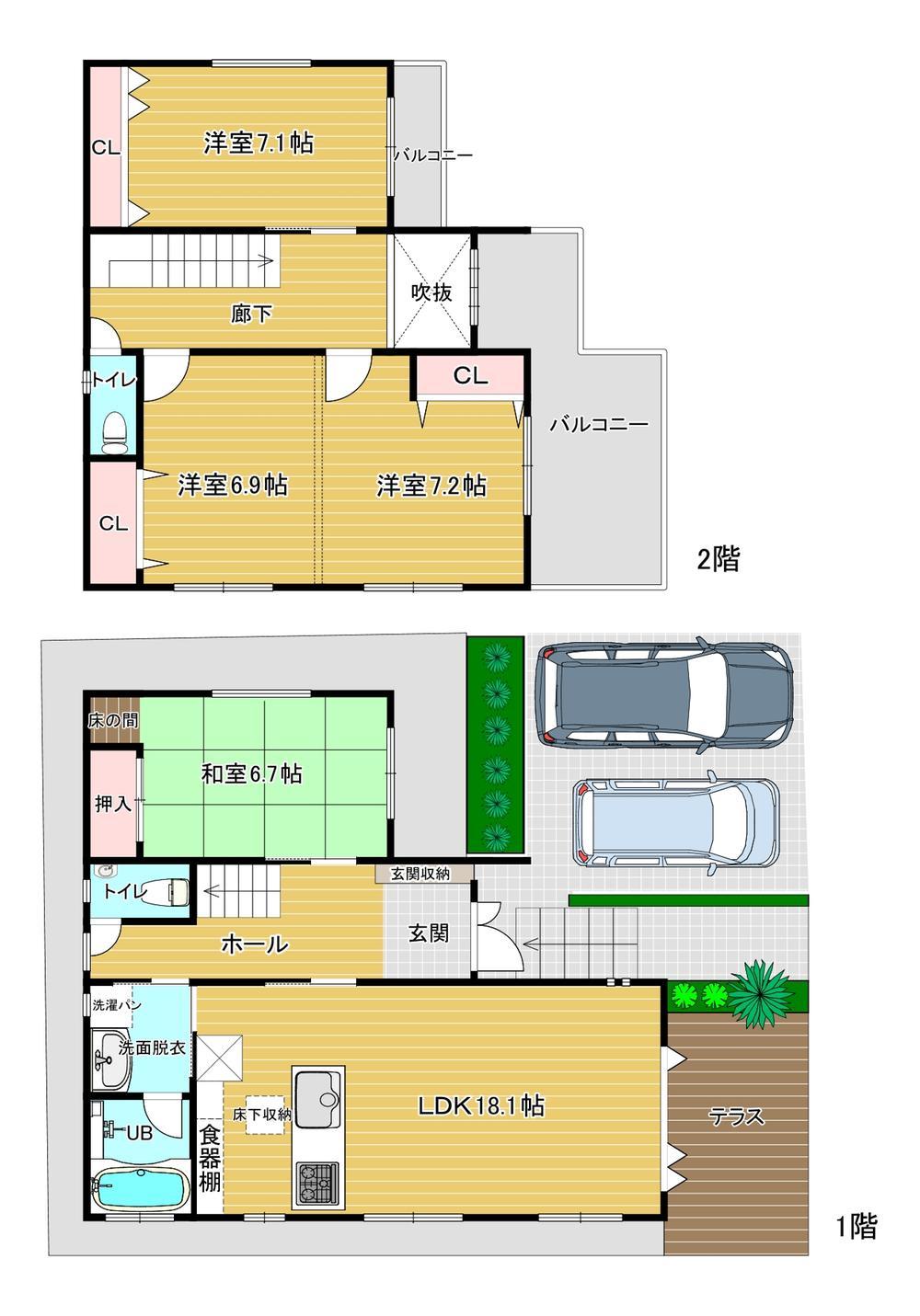 3680万円、4LDK、土地面積131.8m<sup>2</sup>、建物面積115.72m<sup>2</sup>