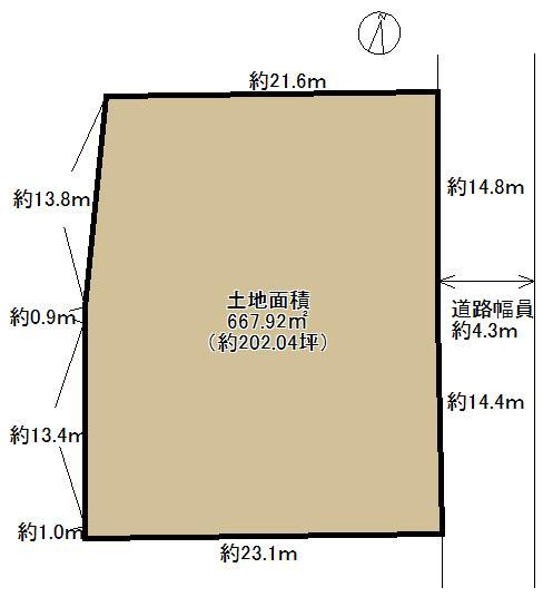 土地価格780万円、土地面積667.92m<sup>2</sup>