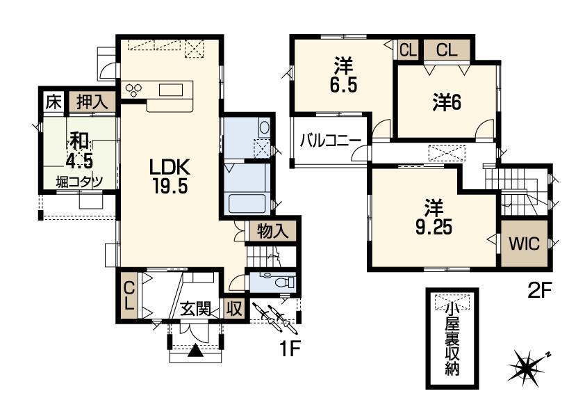 (8号地)、価格3044万3000円、4LDK、土地面積159.27m<sup>2</sup>、建物面積111.79m<sup>2</sup>