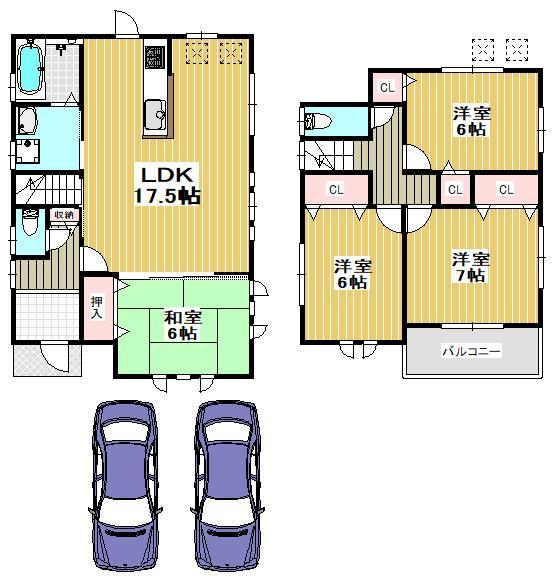 価格3003万2000円、4LDK、土地面積136.68m<sup>2</sup>、建物面積96.39m<sup>2</sup>