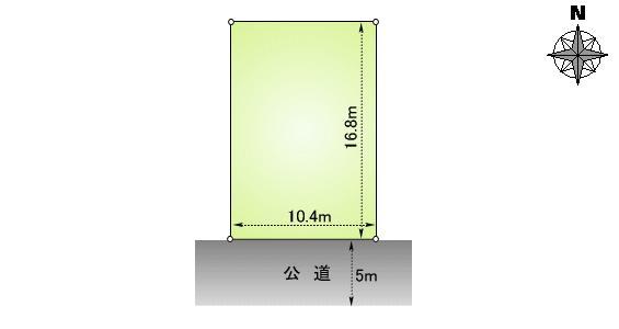 土地価格424万円、土地面積175.17m<sup>2</sup>