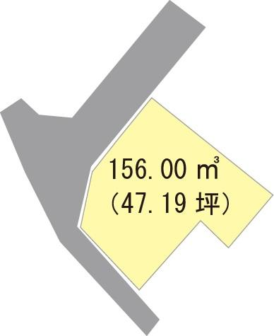 土地価格471万9000円、土地面積156m<sup>2</sup>