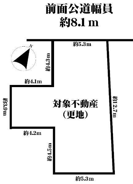 土地価格2800万円、土地面積84.03m<sup>2</sup>