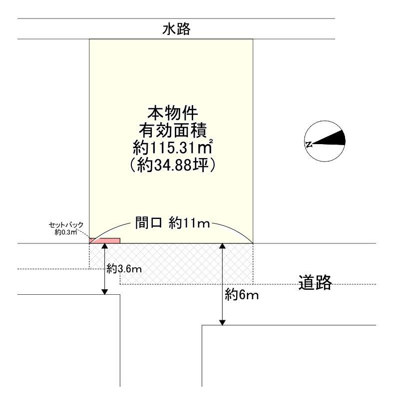 土地価格990万円、土地面積146.81m<sup>2</sup>