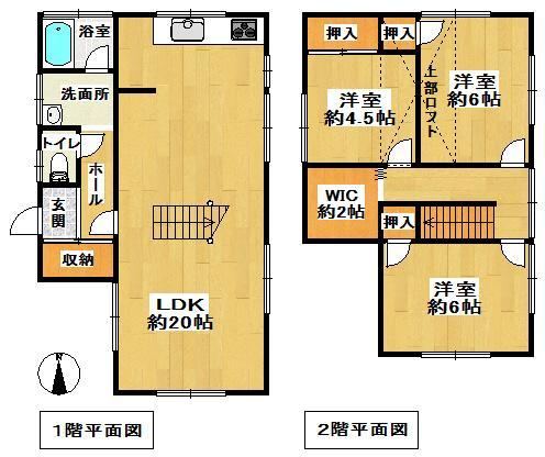 1880万円、3LDK、土地面積159.11m<sup>2</sup>、建物面積84.45m<sup>2</sup>