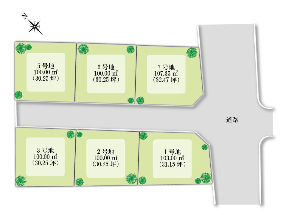 南海本線「松ノ浜」駅より徒歩10分。<BR>泉大津市二田町に全6区画のニュータウンの誕生です!<BR>ご好評につき残り1区画となっています。<BR>お気軽にお問い合わせください。
