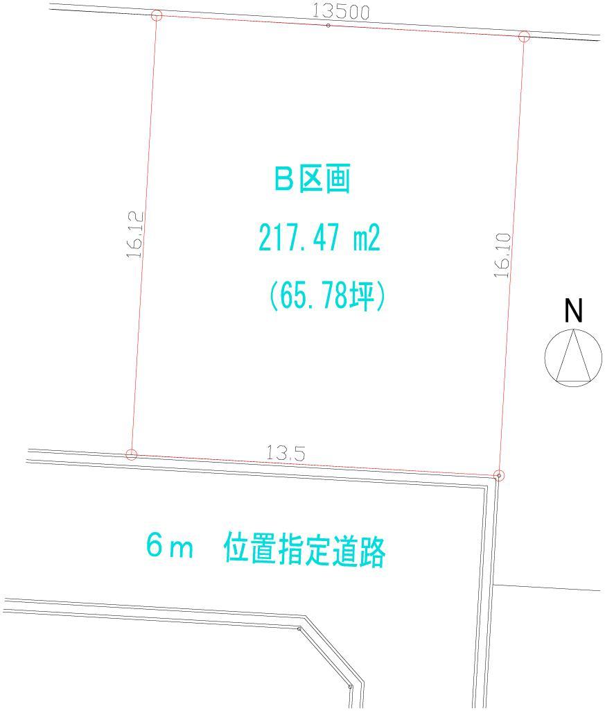 土地価格1052万円、土地面積217.47m<sup>2</sup>