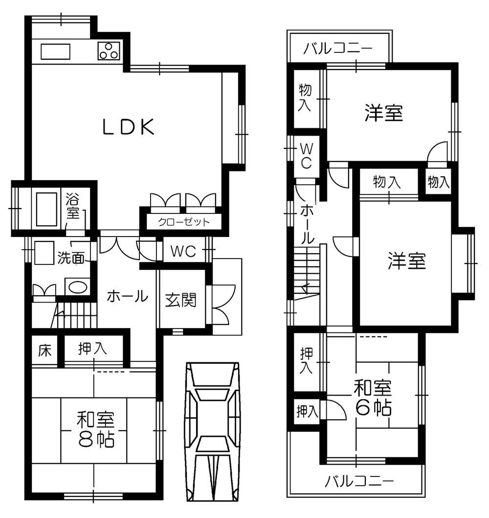 (1号地)、価格1890万円、4LDK、土地面積121.54m<sup>2</sup>、建物面積103.39m<sup>2</sup>