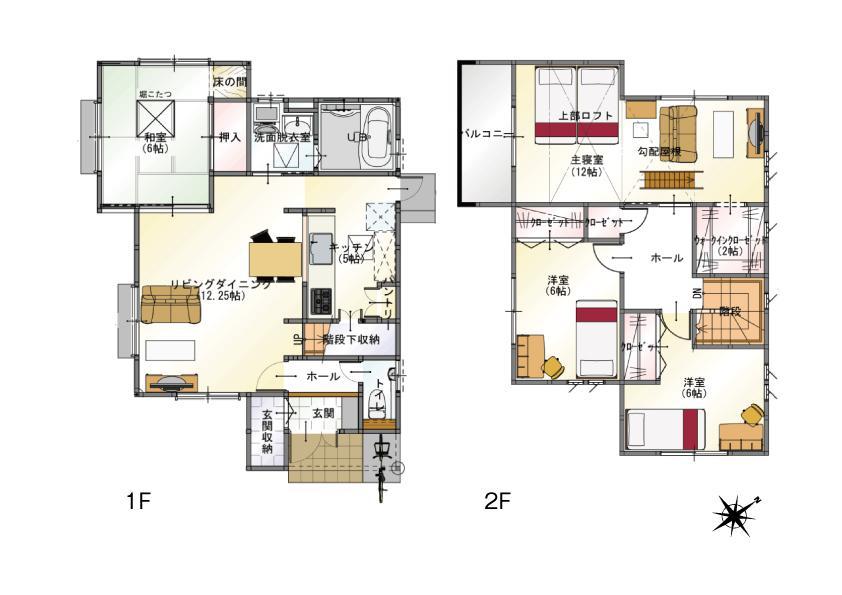 (2-2号地)、価格2990万7000円、4LDK、土地面積150.76m<sup>2</sup>、建物面積111.79m<sup>2</sup>