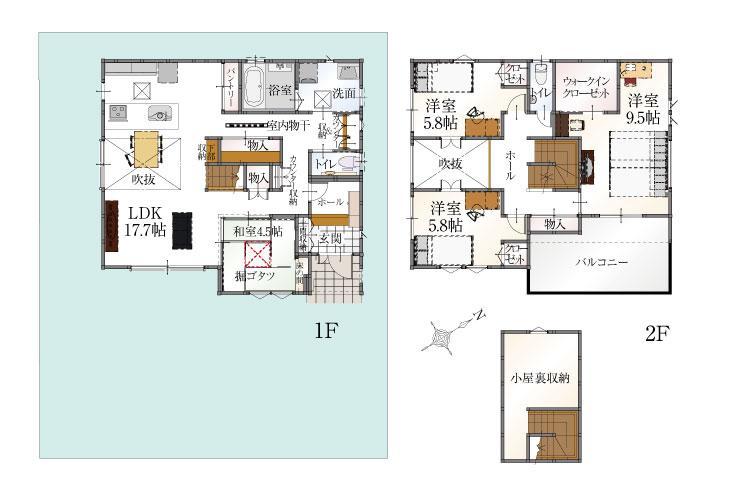 (2-21号地)、価格4068万2000円、4LDK、土地面積184.01m<sup>2</sup>、建物面積121.48m<sup>2</sup>