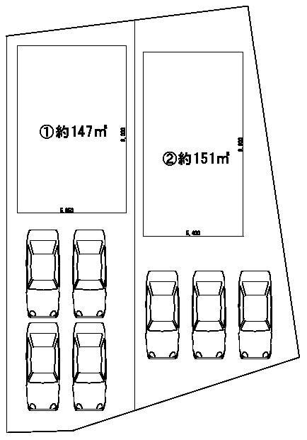 敷地面積約44.8坪~45.8坪