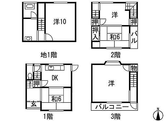 1580万円、5DK、土地面積28.76m<sup>2</sup>、建物面積78.99m<sup>2</sup>