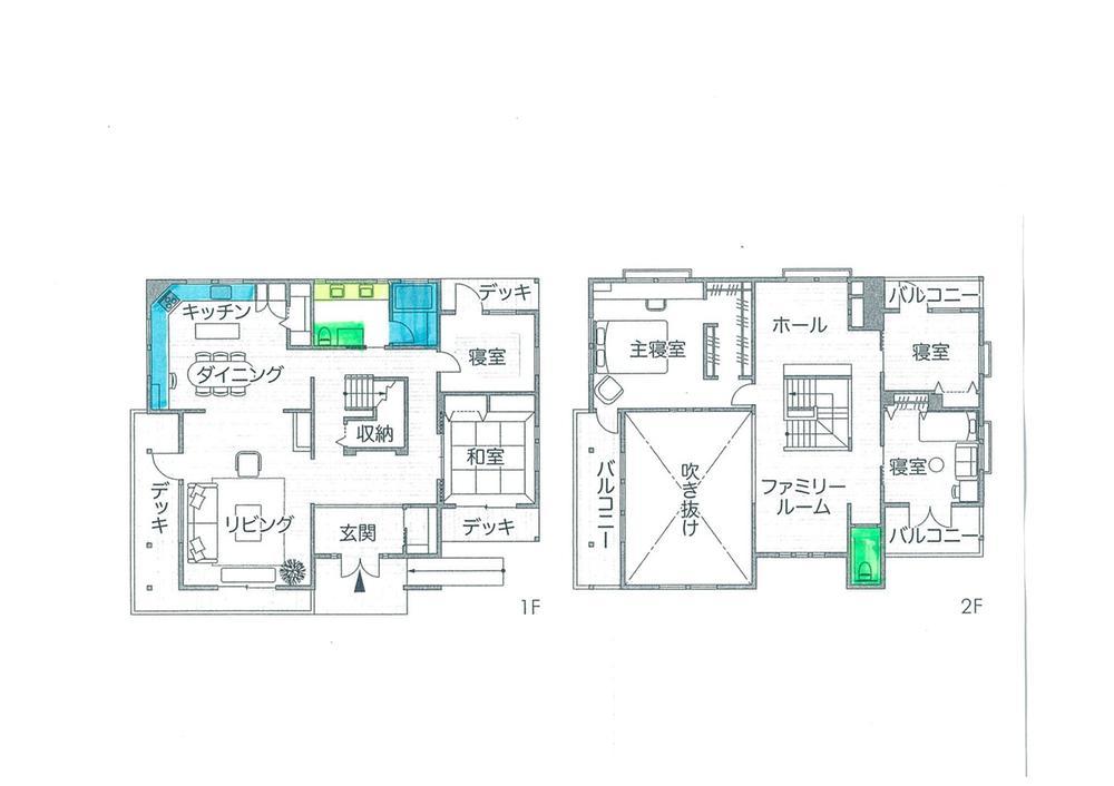 建物プラン例(1号地)建物価格2750万円、建物面積165.3m<sup>2</sup>
