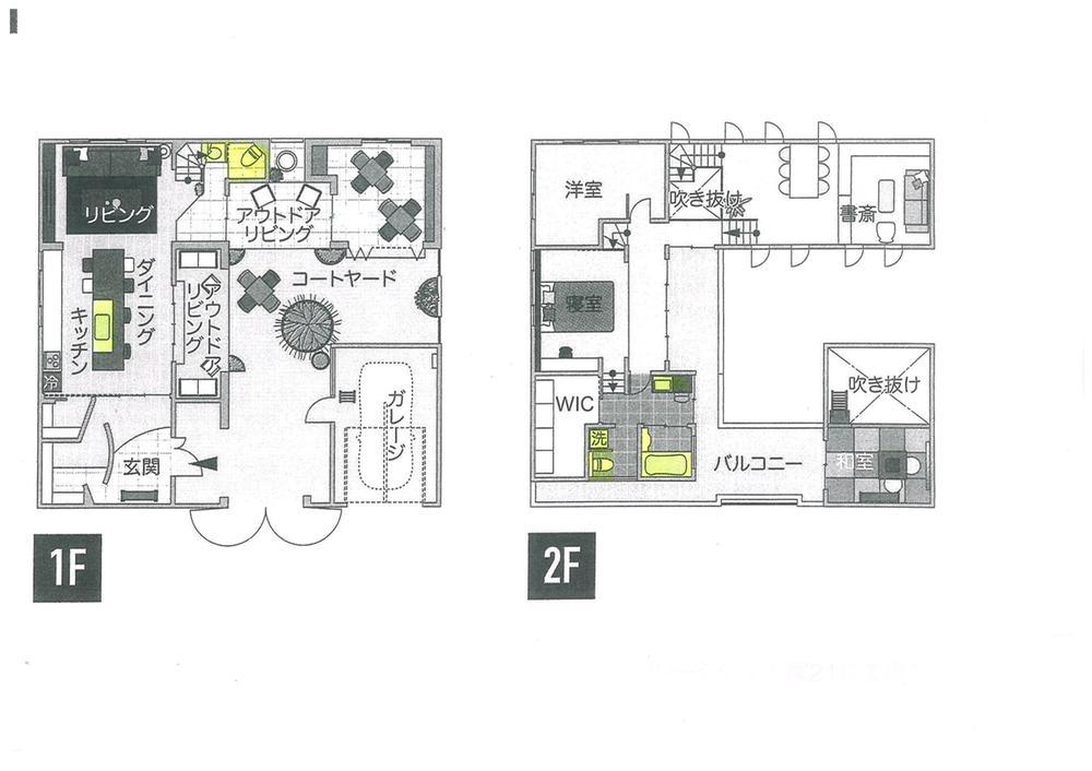 建物プラン例、土地価格100万円、土地面積247.54m<sup>2</sup>、建物価格2000万円、建物面積120m<sup>2</sup> 間取り:推奨プラン