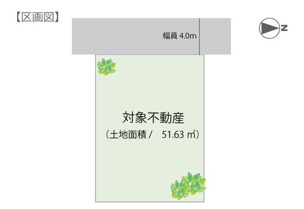 土地価格680万円、土地面積51.63m<sup>2</sup>