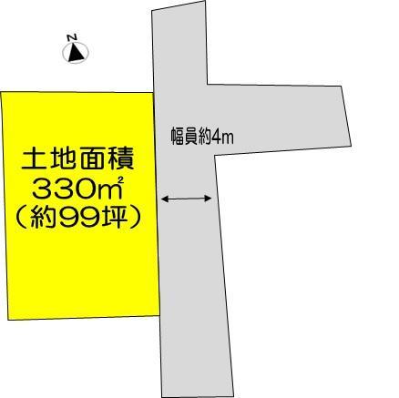 土地価格380万円、土地面積330m<sup>2</sup>