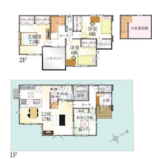 14号地 4LDKモデルハウス完成しました!見学頂けます。 2面バルコニーの贅沢な設計です!