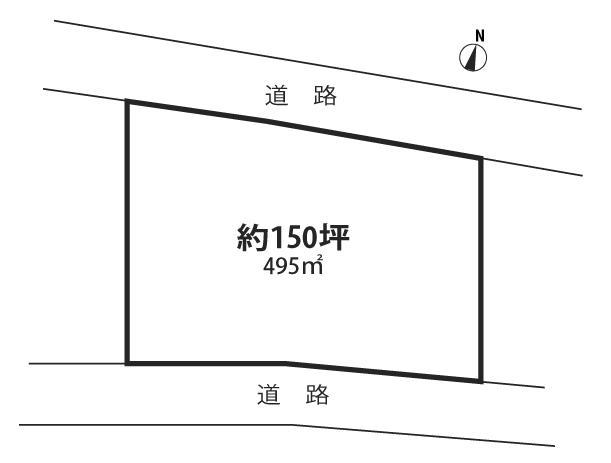 土地価格380万円、土地面積495m<sup>2</sup>