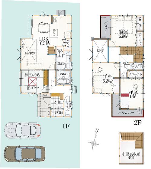 ZEH仕様の建売住宅、続々と建築中です。 県内に見学頂けるモデルハウスもございます。ぜひご予約ください。