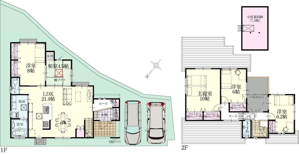 (12号地)、価格3949万8000円、5LDK、土地面積169.32m<sup>2</sup>、建物面積131.24m<sup>2</sup>