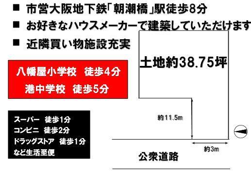 土地価格2800万円、土地面積128.1m<sup>2</sup>