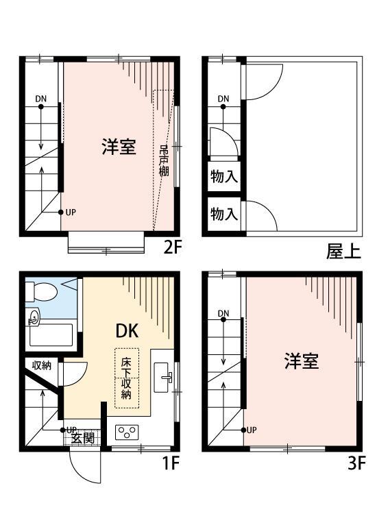 750万円、2DK、土地面積13.31m<sup>2</sup>、建物面積35.64m<sup>2</sup>
