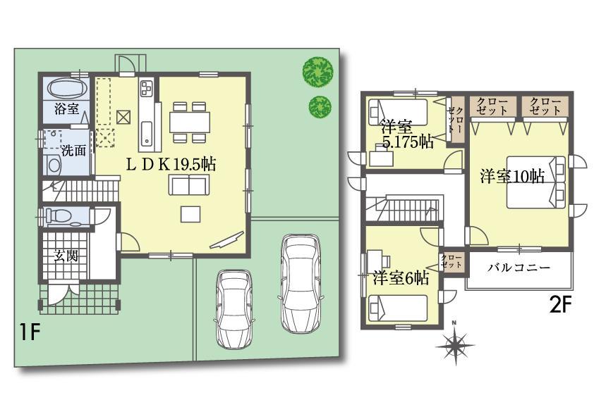 (15号地)、価格2498万1000円、3LDK、土地面積124.17m<sup>2</sup>、建物面積96.87m<sup>2</sup>