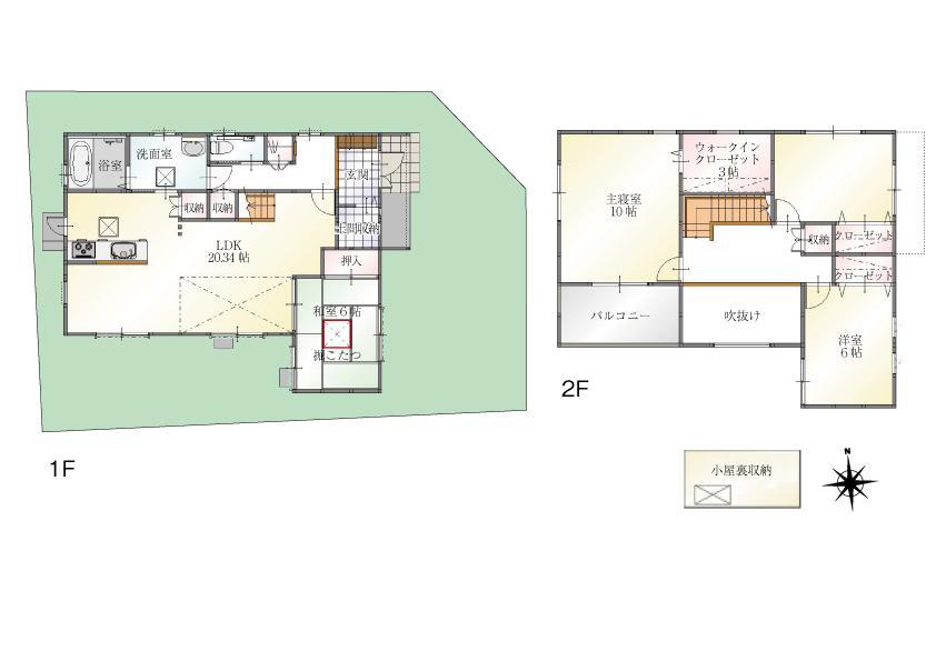 (Ⅰ期 7号地)、価格3998万円、4LDK、土地面積166.36m<sup>2</sup>、建物面積124.21m<sup>2</sup>