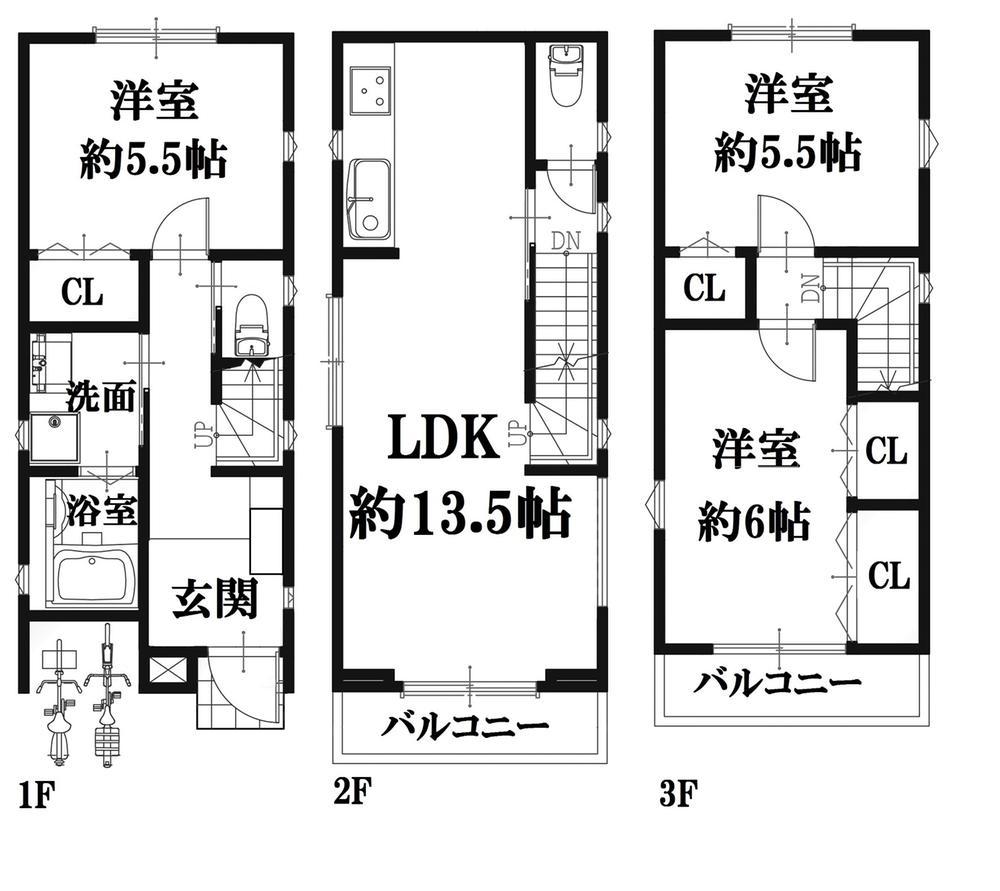 参考プラン図 ※土地1170万+建物1610万円=土地+建物セット価格2780万円