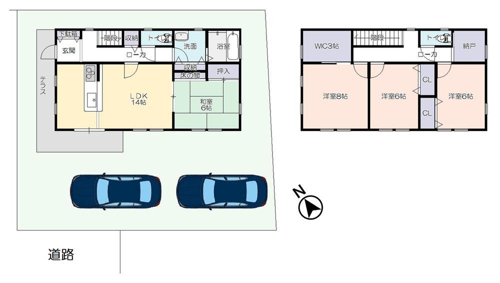 建物プラン例 建物価格 1,660万円、建物面積 109.31m<sup>2</sup>