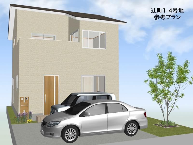 建物プラン例(4号地)建物価格1570万円、建物面積92.57m<sup>2</sup>