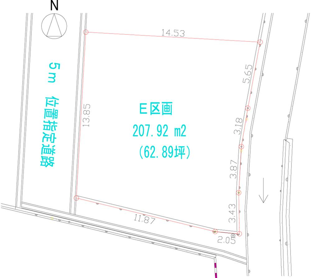 土地価格974万円、土地面積207.92m<sup>2</sup>