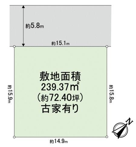 土地価格745万円、土地面積239.37m<sup>2</sup> 間取り