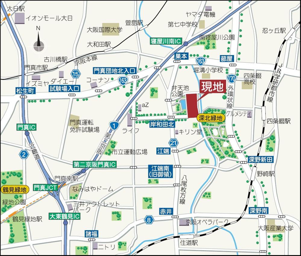 現地案内図(広域図)