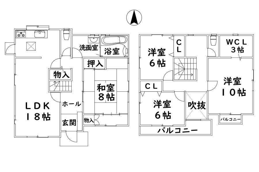 1580万円、4LDK+S(納戸)、土地面積229.28m<sup>2</sup>、建物面積132.67m<sup>2</sup>