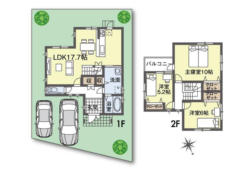 (36号地)、価格1946万3000円、3LDK、土地面積136.16m<sup>2</sup>、建物面積94.81m<sup>2</sup>