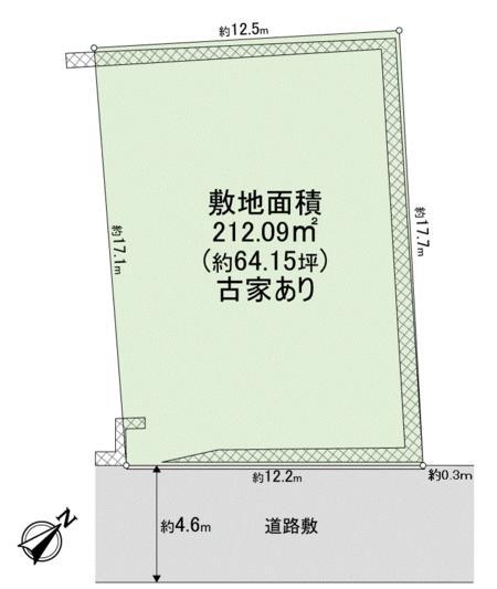 土地価格500万円、土地面積212.09m<sup>2</sup> 間取り