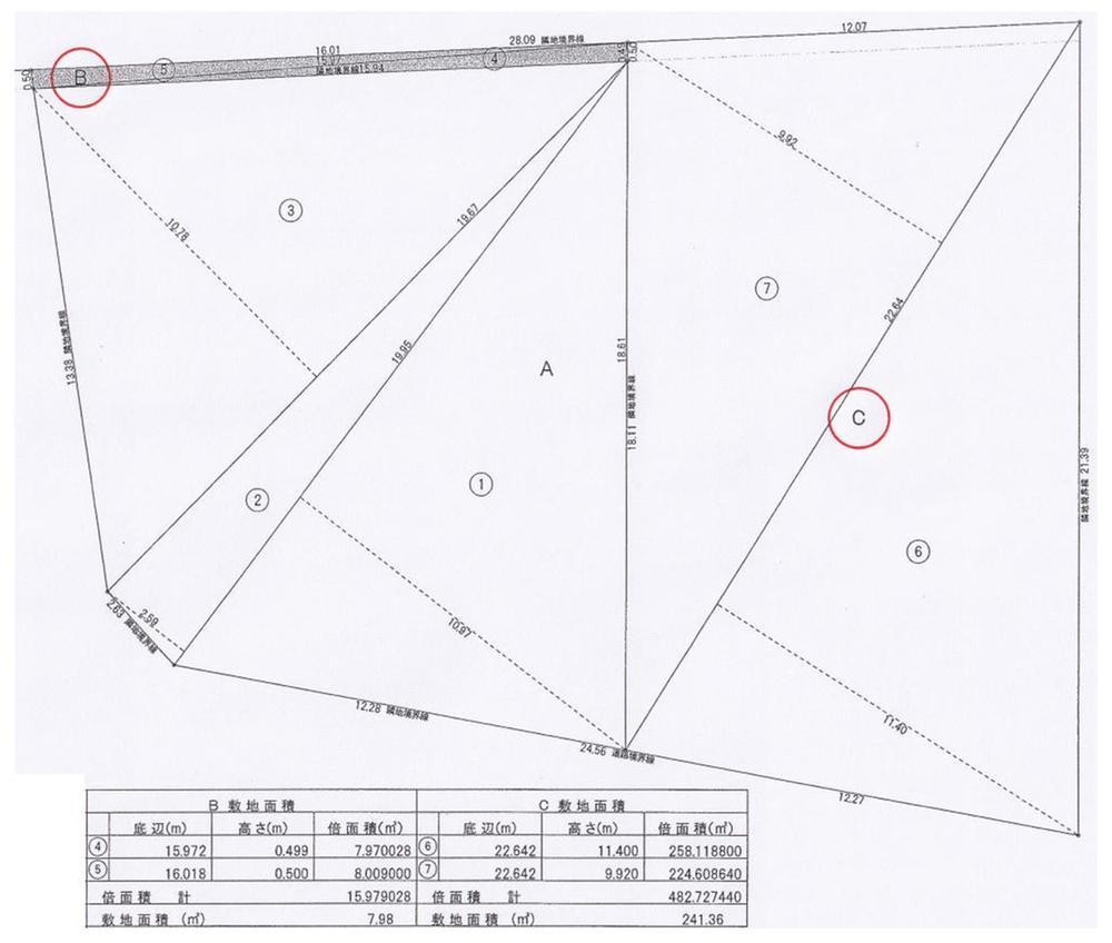 土地価格730万円、土地面積249.34m<sup>2</sup>