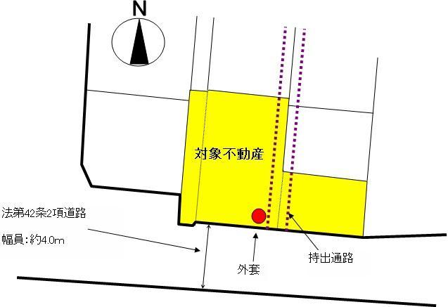土地価格450万円、土地面積246.46m<sup>2</sup>