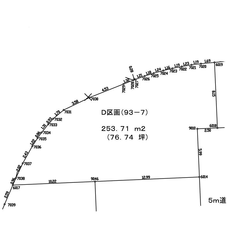 土地価格767万円、土地面積253.71m<sup>2</sup>