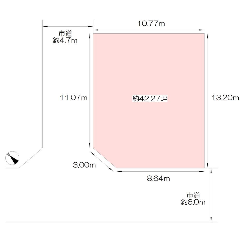 土地価格4580万円、土地面積139.76m<sup>2</sup>