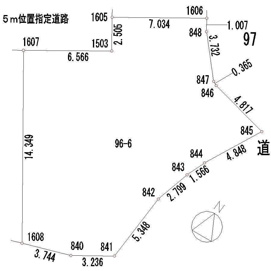土地価格605万円、土地面積210.75m<sup>2</sup>