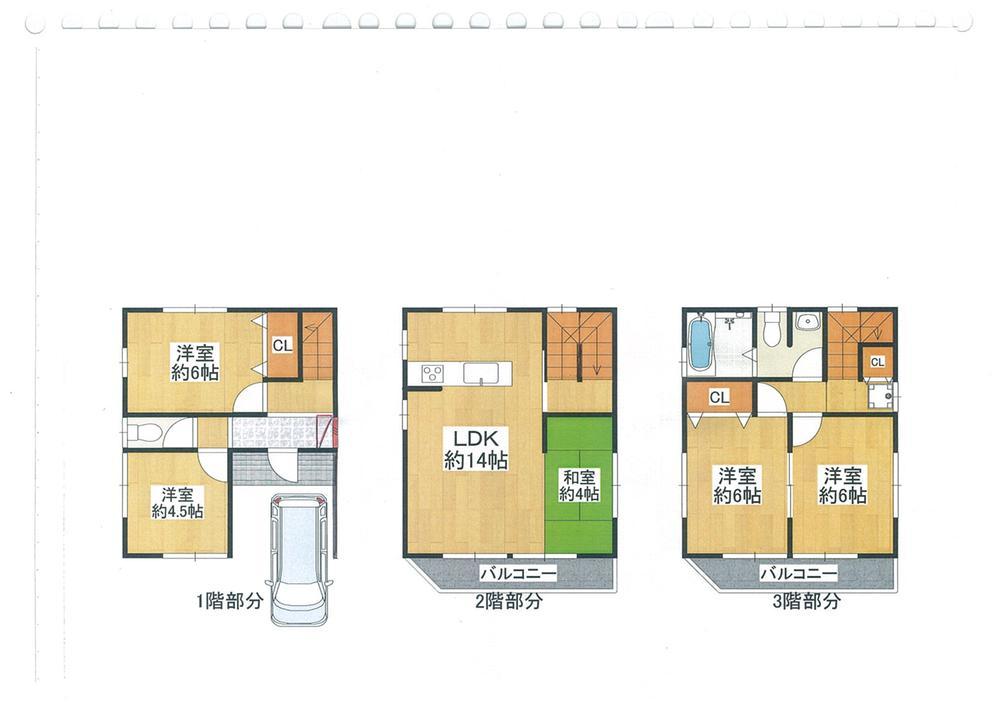 土地価格500万円、土地面積60.03m<sup>2</sup> 間取り:推奨プラン(3階にUBのある家)