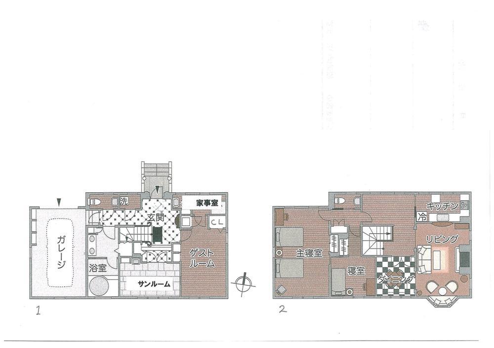 間取り:推奨プラン施工面積100m<sup>2</sup>:建物価格1660万円