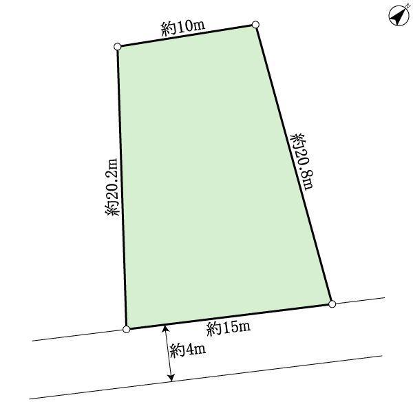 土地価格100万円、土地面積253m<sup>2</sup> 地型図